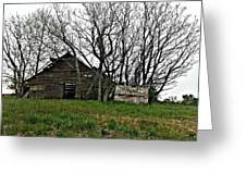 Forgotten Barn Greeting Card by Sarah E Kohara