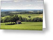 Forgotten Farmhouse In A Hot August Haze Greeting Card