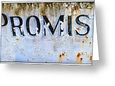 Forgotten Promise Greeting Card