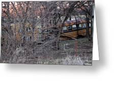 Forgotten Schoolbus Illinois Bend North Texas Greeting Card