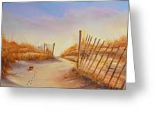 Forgotten Toy In The Sand Greeting Card by Rich Kuhn