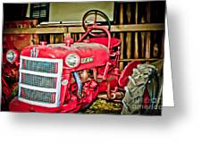 Forgotten Tractor Greeting Card