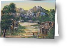Forgotten Village Greeting Card