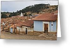 forgotten village Totora Greeting Card