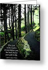 Fork In The Road Greeting Card by Mike Flynn