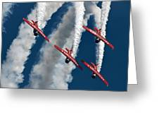 Formation And Smoke Greeting Card
