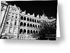 former royal waterloo hospital for children now dormitories for university of notre dame London Engl Greeting Card