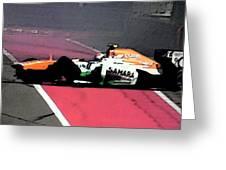 Formula 1 Grand Prix Crash Greeting Card