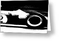 Formula 1 Racer In Action Greeting Card
