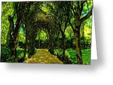 Forrest Etching Greeting Card