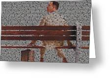 Forrest Gump Quotes Mosaic Greeting Card