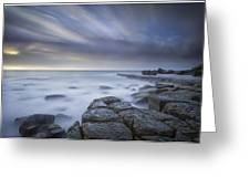 Forresters Beach Sunrise 1 Greeting Card by Steve Caldwell