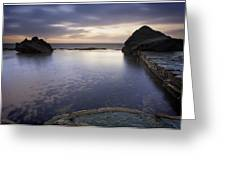 Forresters Beach Sunrise 4 Greeting Card by Steve Caldwell