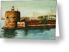 Fort Denison 1930's - Pinchgut Greeting Card