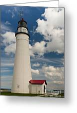 Fort Gratiot Lighthouse And Clouds Greeting Card