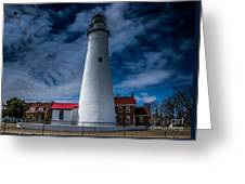 Fort Gratiot Lighthouse From The Water Side Greeting Card