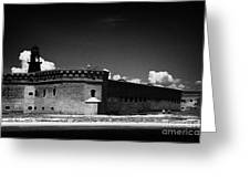 Fort Jefferson Walls With Garden Key Lighthouse Bastion And Moat Dry Tortugas National Park Florida  Greeting Card