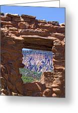 Fort Jemez Adobe Window Greeting Card