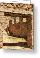 Fort Jemez National Park Church Entrance Greeting Card