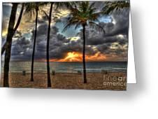 Fort Lauderdale Beach Florida - Sunrise Greeting Card