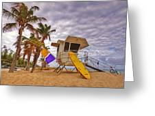Fort Lauderdale Lifeguard Station Greeting Card