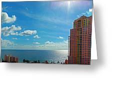 Fort Lauderdale Ocean View Greeting Card