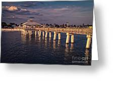 Fort Myers Beach Fishing Pier Greeting Card