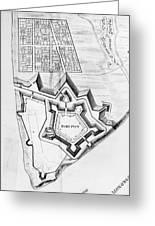 Fort Pitt, 1761 Greeting Card