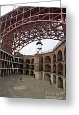 Fort Point And Golden Gate Bridge San Francisco Greeting Card