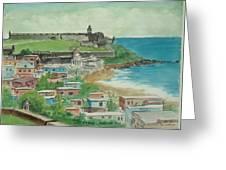 Fort San Felipe Del Morro From Fort San Cristobal Pr Greeting Card