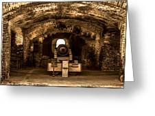 Fort Sumter Famous Cannon Greeting Card by Optical Playground By MP Ray