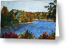 Fort Toulouse Coosa River In Fall Greeting Card