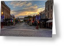 Fort Worth Stockyards Sunrise Greeting Card
