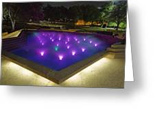 Fort Worth Water Garden Aerated Pool Greeting Card
