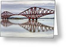 Forth Bridge Reflections Greeting Card