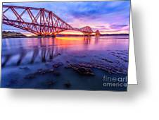 Forth Rail Bridge Stunning Sunrise Greeting Card