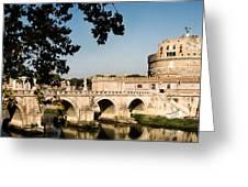 Fortress And Bridge Greeting Card