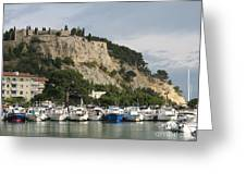 Fortress And Harbor Cassis Greeting Card