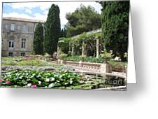 Fortress Garden  Villeneuve Les Avignon Greeting Card