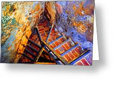 Fortress Steps Greeting Card
