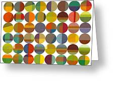 Forty Eight Circles 2.0 Greeting Card