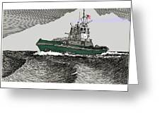 Foss Tractor Tugboat Greeting Card