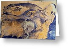 Fossil Fish Greeting Card