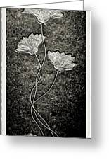 Fossilized Flowers Greeting Card
