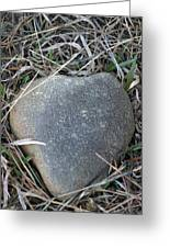 Found A Heart Of Stone Greeting Card