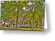 Founders Hall Portico Entrance Greeting Card