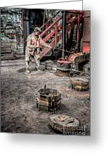 Foundry Worker Greeting Card