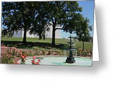 Fountain At Capitol Square  Greeting Card