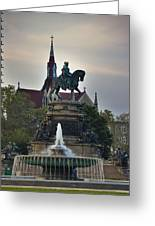 Fountain At Eakins Oval Greeting Card