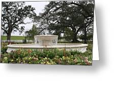 Fountain At Nottoway Greeting Card
